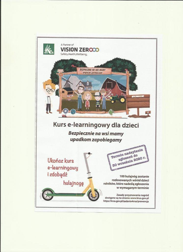 """Kurs e-learningowy """"Bezpiecznie na wsi – upadkom zapobiegamy"""""""